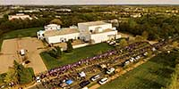 Paisley Park aerial during Prince memorial