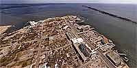 Biloxi's Casino Row after Hurricane Katrina.