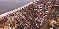 360 degree aerial panorama over Gulfport near Courthouse Rd. after Katrina.