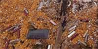 Aerial panorama over west Gulfport after Hurricane Katrina, near Broad Ave. and Hwy. 90.